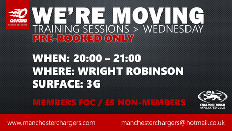 We're Moving - Training Sessions