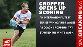 CROPPER OPENS UP THE SCORING AT FIRST INTERNATIONAL TEST