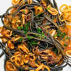 Squid Ink Spaghetti Seafood
