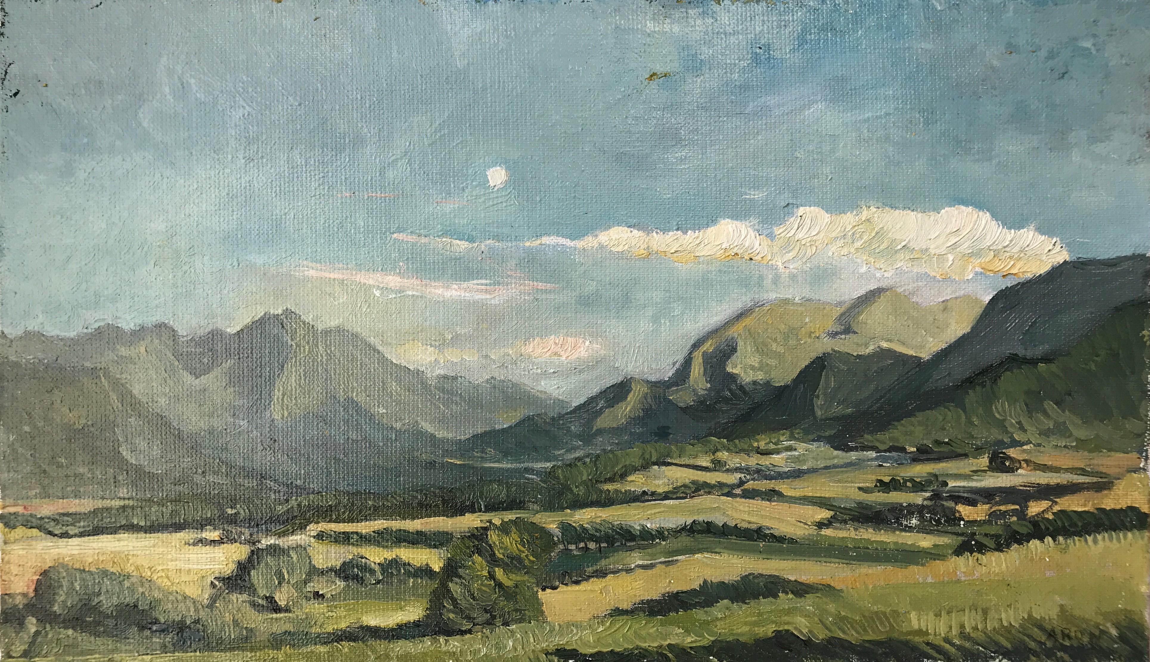 paysage des alpes 24 x 41 cm