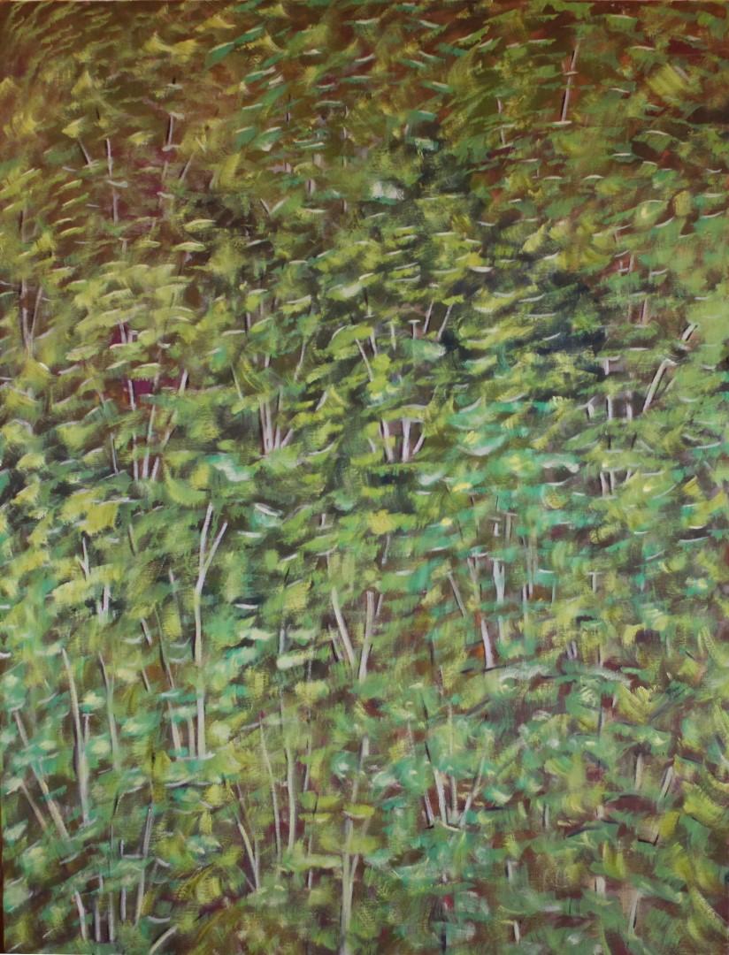 13-Petits arbres verts-130 x 89 cm vertical (Large)