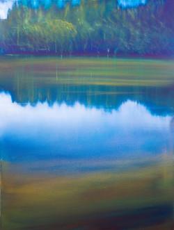 St. Michel_s Lake, 80X60cm, 2018