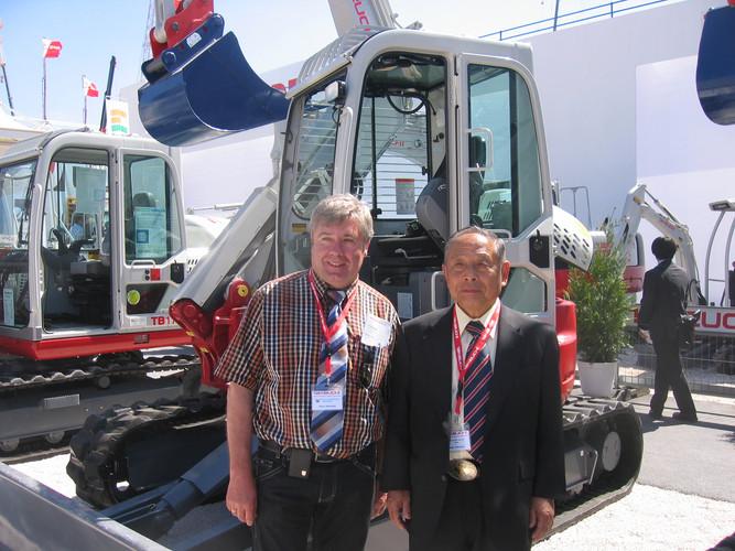 Hans Helmling und Akio Takeuchi (CEO Takeuchi)
