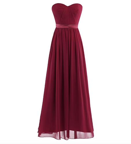 S103 ベアトップドレス レッド