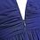 Thumbnail: S101 Vネックロングドレス ネイビー