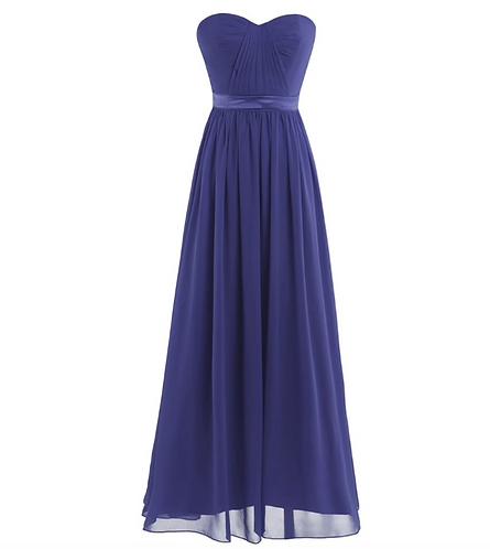 S103 ベアトップドレス ブルー
