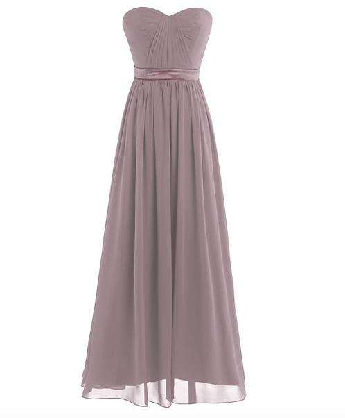 S103 ベアトップドレス くすみベージュ