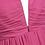 Thumbnail: S101 Vネックロングドレス 濃いピンク