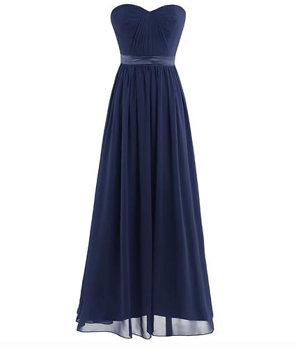 S103 ベアトップドレス ネイビー