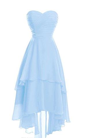 S014(セミオーダー)ハートカットミディアムドレス シフォン 152色