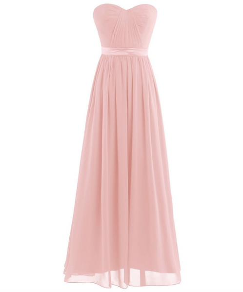 S103 ベアトップドレス 薄ピンク