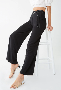 Forever 21 Belted Wide Leg Pants
