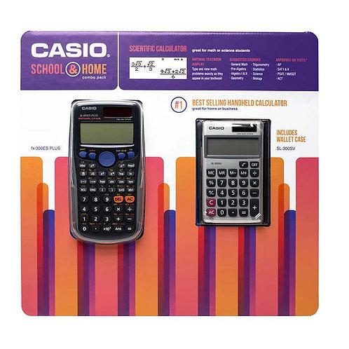 Casio 2pk Scientific Calculator and Basic Calculator Pack