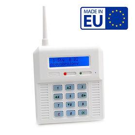 Wireless alarm control panel, BLUE backl