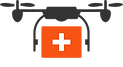 medical-drone-shipment-flat-icon-vector-
