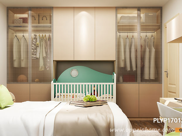 Hinged-Wardrobe-with-Built-in-Baby-Crib-