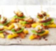date-blue-cheese-pancetta-polenta-stacks