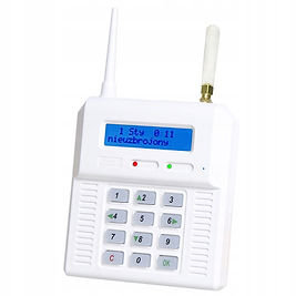 Wireless alarm control panel with built-