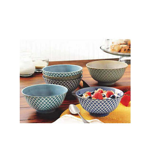 Porcelain Embossed 6PC Bowls