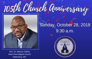 105th Church Anniversary Worship Service