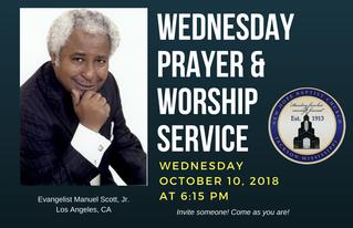 2nd Wed. Prayer & Worship Service (10/10)
