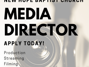 Ministry Opportunity - Media Director