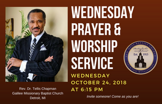 4th Wed. Prayer & Worship Service (10/24)