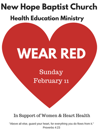 Wear Red - Sun., Feb. 11th