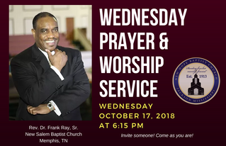3rd Wed. Prayer & Worship Service (10/17)