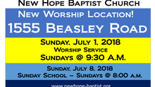 New Worship Location!