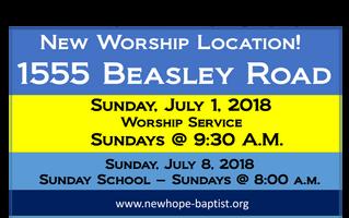 New Worship Location!