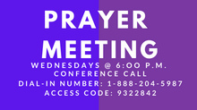 Prayer Meeting Conference Call