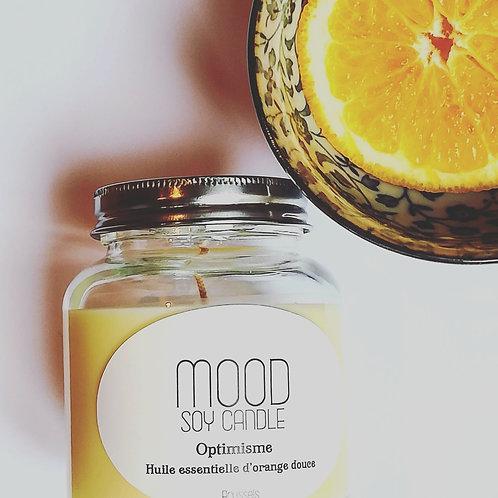 Bougie à l'huile essentielle d'orange douce
