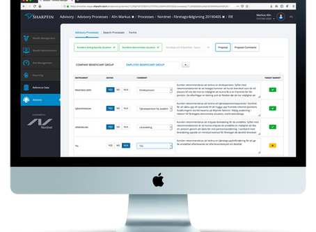 Nordnet digitalizes their insurance advisory process with help from Sharpfin