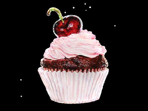 Cherry Cupcake Numbered print