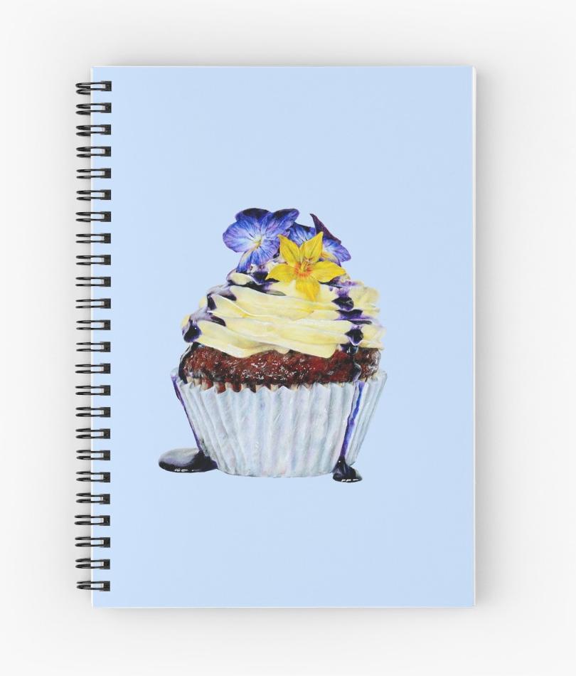 Violet Cupcake Spiral Notebook