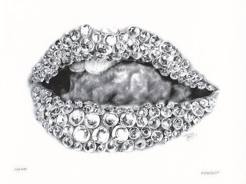 Diamond Lips Numbered Print