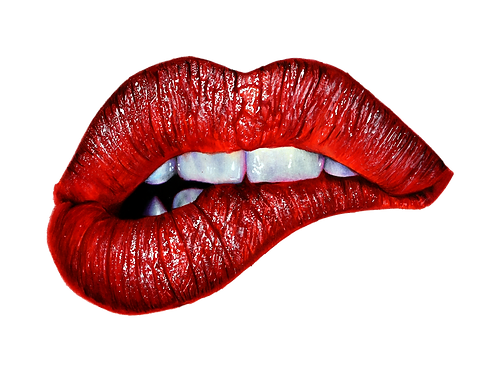 Red Lips Numbered Print