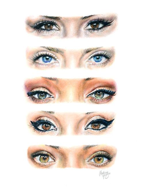 Celebrity Eyes Numbered Print