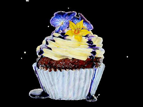 Violet Cupcake Numbered Print