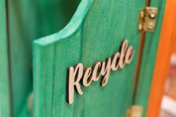 close up of Recycle door
