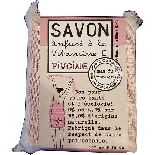 Savonnette végétal parfumé coloré – PIVOINE