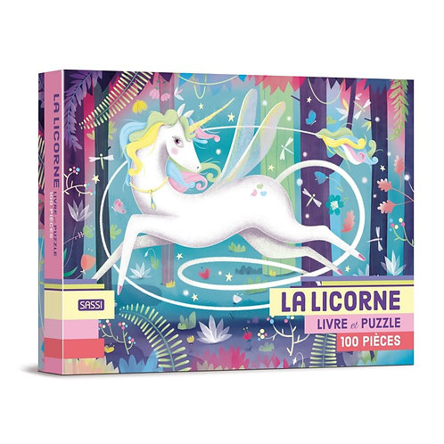 100 pièces puzzle - La licorne - SASSI