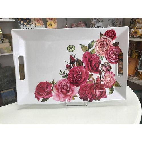 Plateau rectangulaire mélamine grand modèle - Sweet Floral Melody