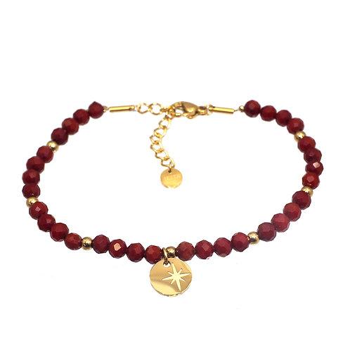 Bracelet perles en pierre naturelle -Ikita