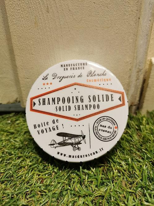 Boîte de voyage métal pour shampooing solide