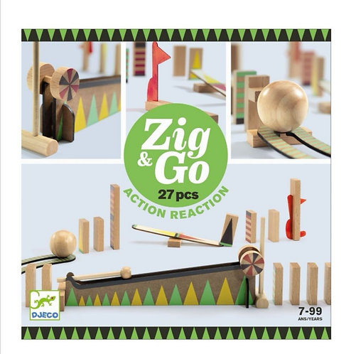 ZIG & GO- BIG BALL 27 PIECES -  DJECO