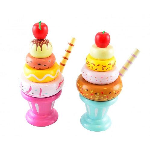 jouet en bois crème glaçée à empiler - BB AND CO