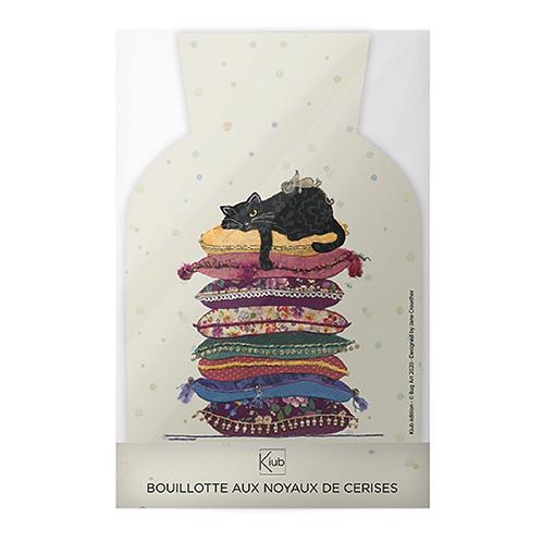 BOUILLOTTE NOYAUX DE CERISE CLASSIQUE BUG ART CHAT COUSSIN