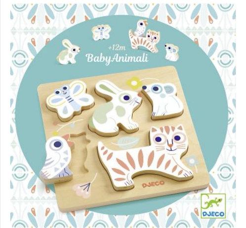 Puzzle à encastrement BabyAnimali (5 pièces) Djeco